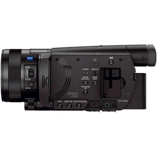 FDR-AX100B 4K HD Camcorder with Type 1.0  Exmor-R CMOS Sensor