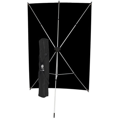 X-Drop Kit with 5' x 7' Black Backdrop