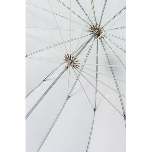 "72"" Black/White Parabolic Umbrella Kit with Large Light Stand, Umbrella Holder and Cold Shoe"