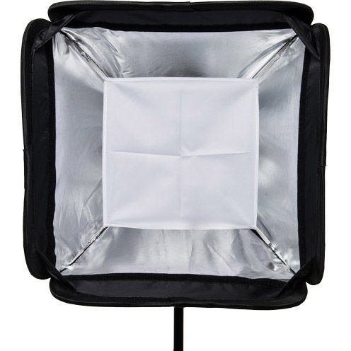 "31"" x 31"" Speedlight Collapsible Softbox Kit -  Silver with Tilthead Bracket and Medium Light Sta"