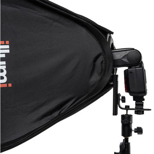 "15"" x 15""  Speedlight Collapsible Softbox Kit  - Silver with Tilthead Bracket and Medium Light Stan"