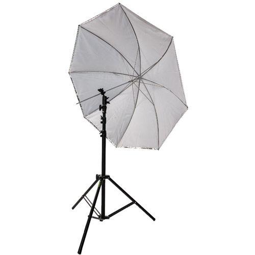 "45"" Umbrella Kit with Small Light Stand and Ball Head Style Speedlight Umbrella Holder"