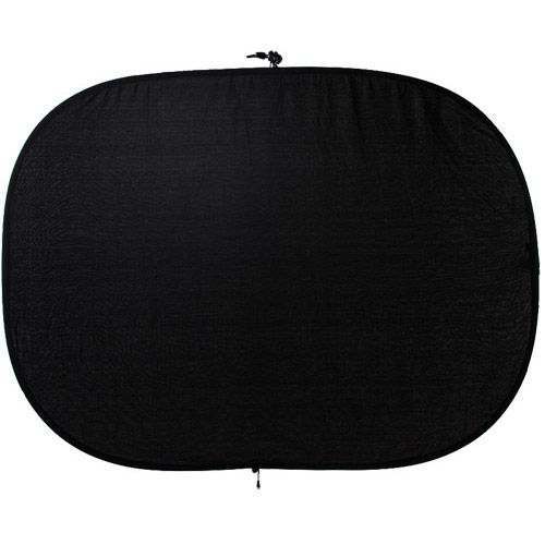 1.5 m x 2 m Collapsible Double Stitched Studio Background- Black/White