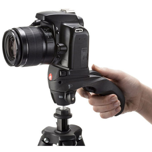 Compact Action Tripod Kit With Photo-Movie Head - Black