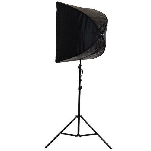 "28"" x 28"" Brolly Box Kit with Dual Flash Holder and Medium 3.0 m Air Cushion Light Stand"