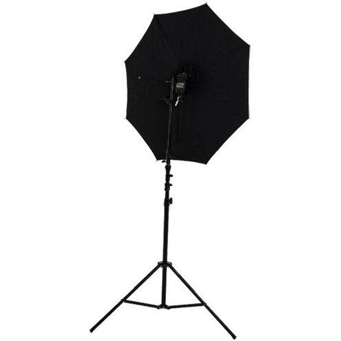 "40"" Brolly Box - Shoot Through Umbrella with 7 mm Shaft with Medium Light Stand and Umbrella Holder"