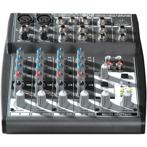 Premium 8-Input 2-Bus Mixer w/ XENYX Mic Preamps and British EQs