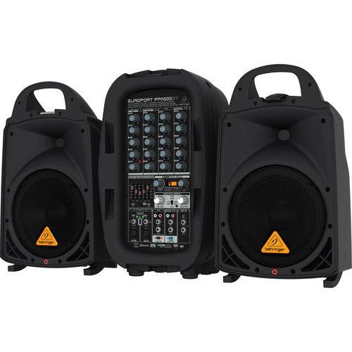 500-Watt 6 Channel Portable PA System w/ Bluetooth, Wireless Mic Option, Processor and FBQ