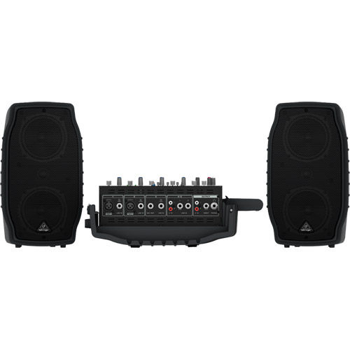 200-Watt 5 Channel Portable PA w/ Wireless Mic Option, Processor and FBQ