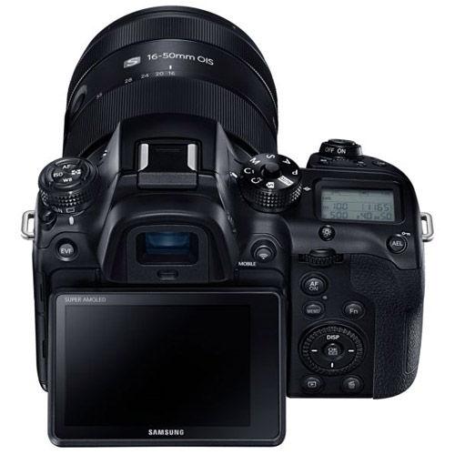 NX1 Mirrorless Body Blk w/16-50 3.5-5.6 PZ lens w/ Fotodiox Pro EOS-NX adapter