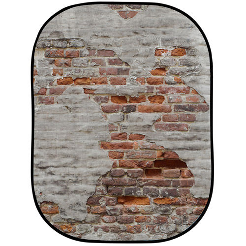 Urban Collapsible 1.5x2.1m Rusty Metal/Plaster Wall