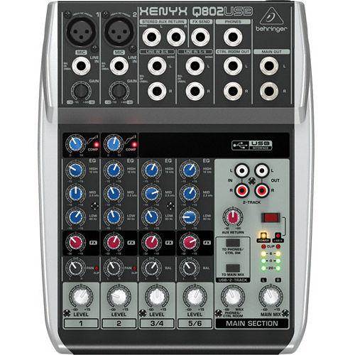 Q802USB Premium 8-Input 2-Bus Mixer