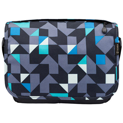Switch Cover 8 Blue/Gray Geometric