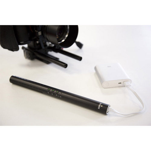 NTG-4+ Shotgun Condenser Microphone with Digital Switches and Built-In Rechargeable Batt.
