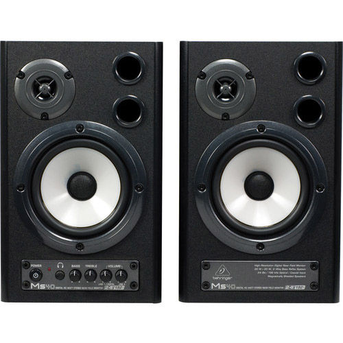 MS40 24-Bit/192 kHz Digital 40W Stereo Near Field Monitors
