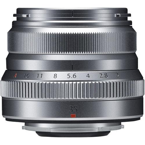 Fujinon XF 35mm f/2.0 R WR Silver Lens