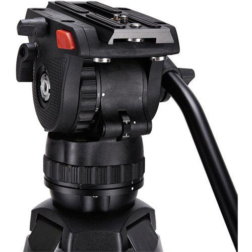 Mark 4 MS Video Tripod Kit. Includes Pan/Tilt Head, Aluminum Tripod, and Soft Case