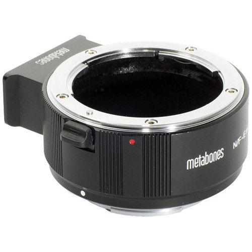Nikon F to NEX/E-Mount Camera Lens Adapter (Black Matt) II for Full Frame or APSC Sensor Cameras