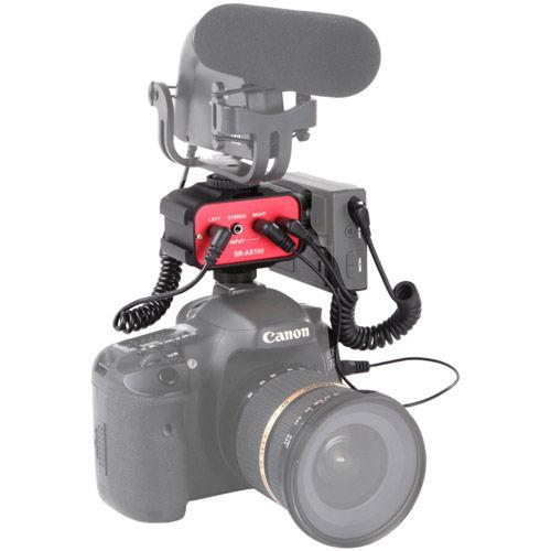 SR-AX100 2-Channel Passive Audio Adapter - Camera Top Shoe Mount