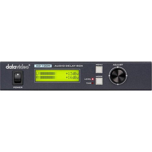 AD-100M Audio Delay Box with Microphone Input (Up to 700ms Delay)