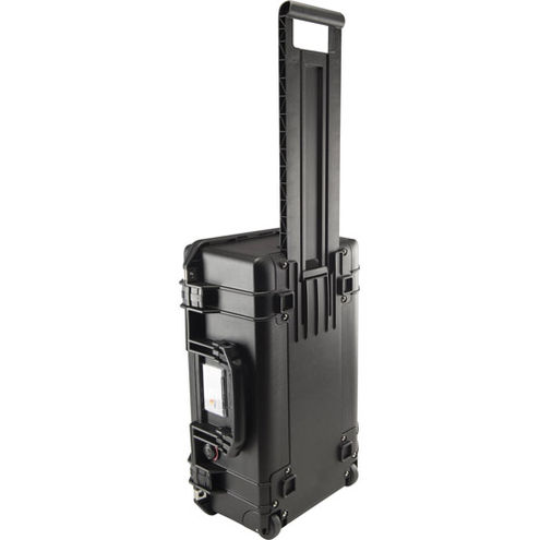 1535 Air Case Black w/Padded Dividers, w/Retractable Handle & Wheels