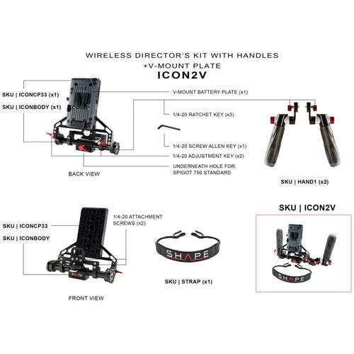 Wireless Director's Kit w/Handles, V-Mount Battery Plate