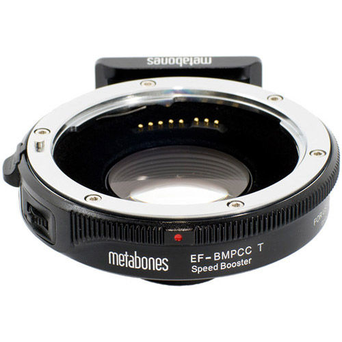 Canon EF Lens to Blackmagic Pocket Cinema Camera T Speed Booster (Black Matt)
