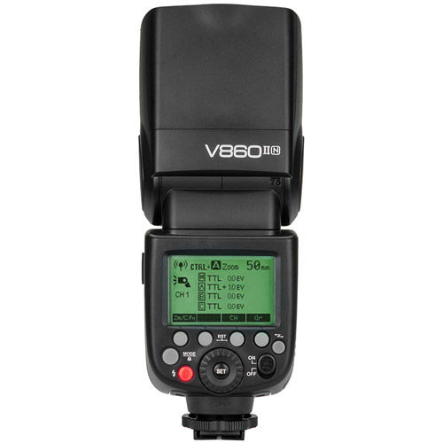 V860 II Flash Kit -Nikon includes Li-On Battery, Charger, Case