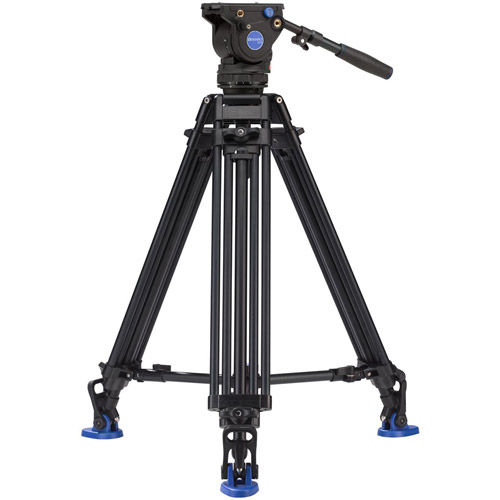 BV6PRO Aluminum Video Tripod Kit - Dual Stage with BV6H Video Head, A673TM Legs and Bag