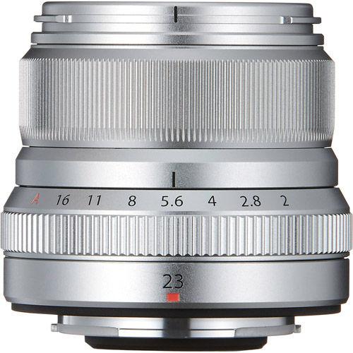 Fujinon XF 23mm f/2.0 R WR Silver Lens