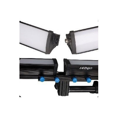 LG-E60 4KIT with 4 x LG-E60 LED Lights with 2 x Power Adapters, 2 x Light Stands, 2x Connector