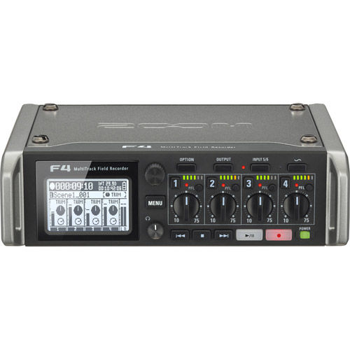 ZF4 Multitrack Field Recorder with Timecode - 6 Inputs / 8 Tracks
