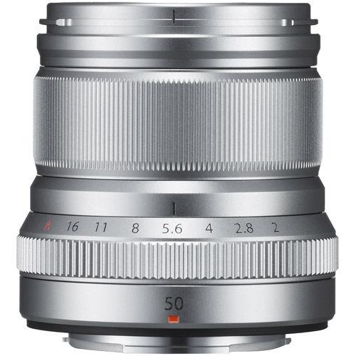 Fujinon XF 50mm f/2.0 R WR Silver Lens