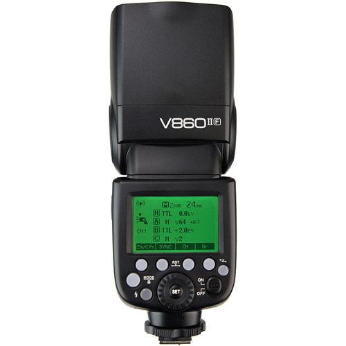 V860 II Flash Kit -Fuji includes Li-On Battery, Charger, Case
