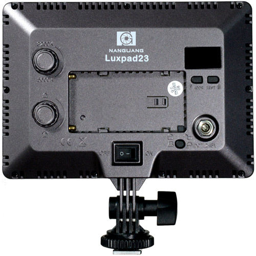 CN-LUXPAD23 LED Soft Light Bi-Color 3200K-5600K with WiFi, F550 Battery, Charger, Hot Shoe Adapter