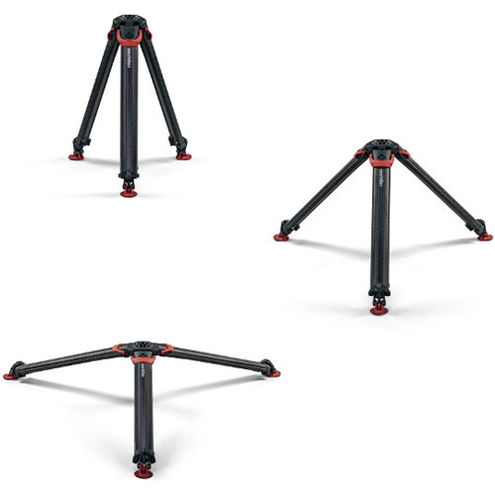 Flowtech 75 Carbon Fiber Tripod With Quick Release Brakes, Mid-Level Spreader And Feet