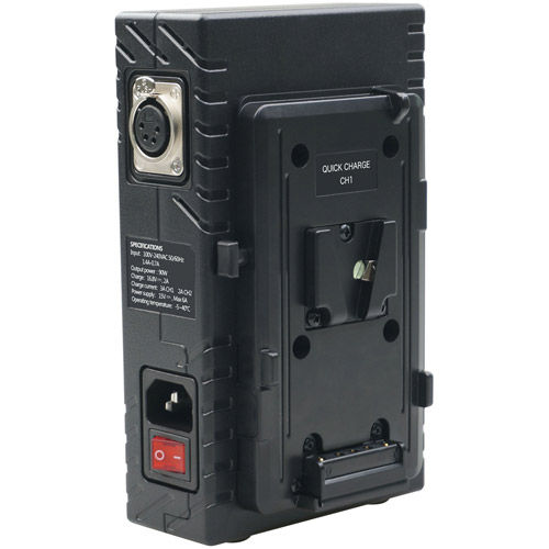 2 Channel 2A Battery Charger V Mount 3A+2A