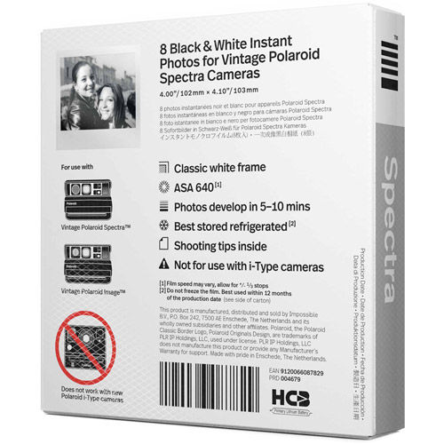 B&W Film for Image/Spectra Camera