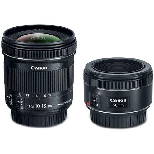 Portrait and Travel Two Lens Kit w/ EF 50mm f/1.8 STM and EF-S 10-18 STM Lenses