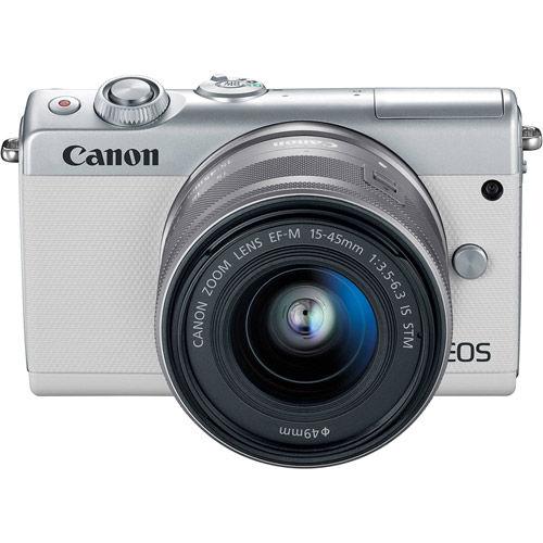 EOS M100 Mirrorless Camera with 15-45 Kit White