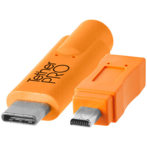 TetherPro USB-C to 2.0 Mini-B 8-Pin, 15'