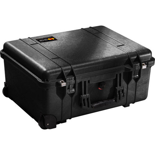 1560 Case with Yellow and Black Divider Set - Black