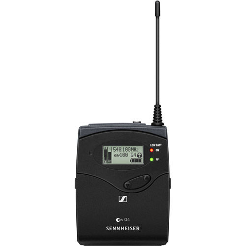 EW112P G4 Camera-Mount Wireless Microphone System ME 2-II Lavalier Mic - A: 516 to 558 MHz
