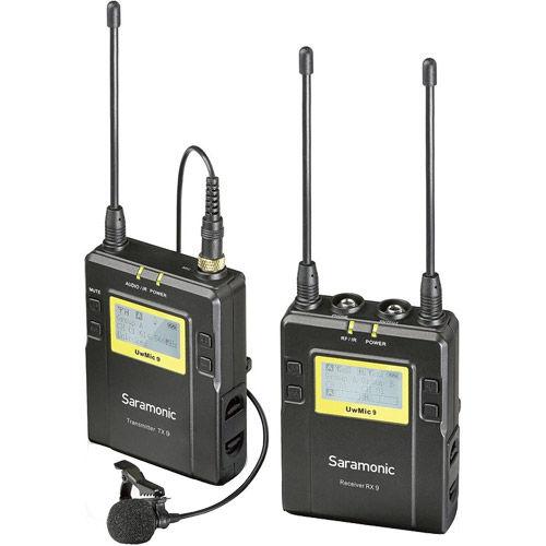 UwMic9 DTXLHK – Dual TX XLR & LAV Kit with HH Mic (1 x XLR9, 1 xTX9, 1 x RX9, 1 x SR-HM7) - UHF Mic