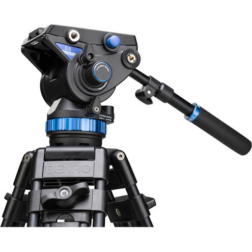 Dual Stage Alum Video Tripod with S8 head A673TMBS
