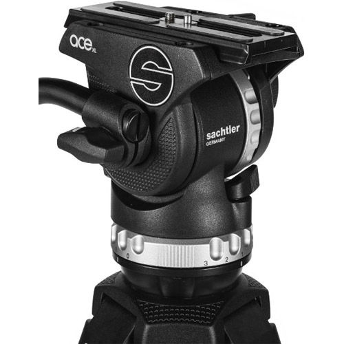 System Ace XL MS AL Fluid Head With Ace 75/2 D Tripod, Mid-Level Spreader, And Padded Bag
