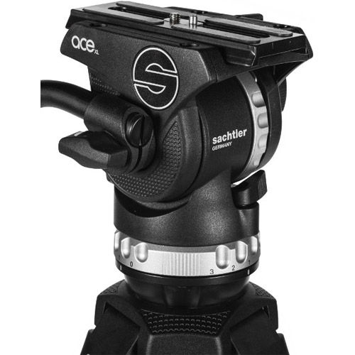 System Ace XL GS AL Fluid Head With Ace 75/2 D Tripod, Ground Spreader, And Padded Bag