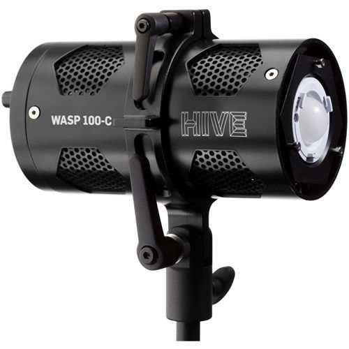 Wasp 100-C LED Par Spot Light w/Barndoors and Power Supply