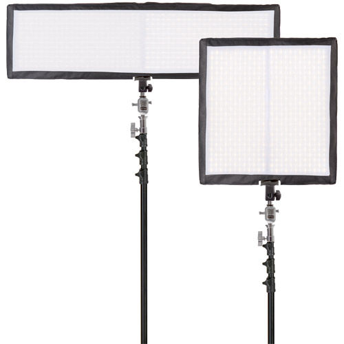 2 x LG-VM2322K1 Versatile XF Dual LED Kit with LG-VQ4BD 4K1 Backing +Diffusion and String Bag