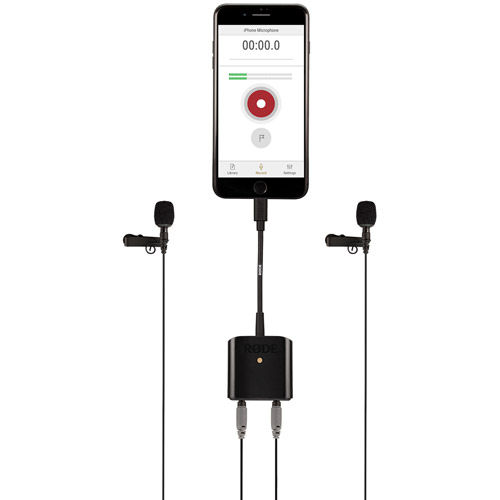 Interview kit containing SC6-L Mobile Interface for Apple Devices Plus 2x Smartlav Plus